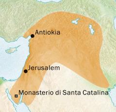 Mapa di e area rond di Antiokia y Jerusalem caminda hende tabata papia Sirio