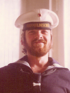 Christof Bauer while serving in the German navy