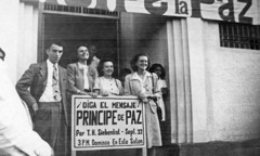 Mildred Olson and others attending a circuit assembly in El Salvador