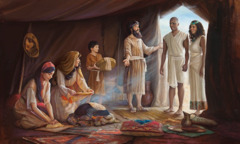 Israelites welcome foreign residents into their tent