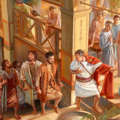 Peter enters the house of Cornelius
