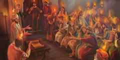 Излитие святого духа на апостолов и учеников Христа в Пятидесятницу 33годан.э.