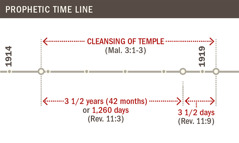 Time line of the cleansing of the temple from 1914 to 1919