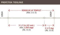 Tidslinje for templets renselse fra 1914 til 1919