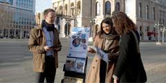Jonathan ja Mayli Gündel todistamassa julkisesti