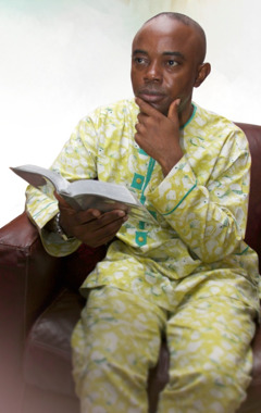 A husband meditates on what he has read in the Bible