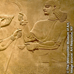 An Assyrian relief of a eunuch