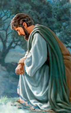 Атасына тиленүү менен кайрылып жаткан Иса[14, 15-беттердеги сүрөт]