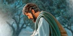 Jésus en train de prier son Père