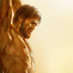 Gesù morente sul palo di tortura