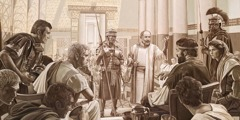 The apostle Paul appeals to Caesar