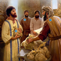 Herren gör upp räkenskaperna med sina slavar.