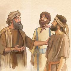 De meester prijst zijn twee getrouwe slaven