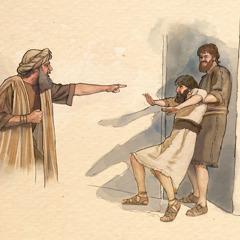 De meester geeft opdracht om de slechte slaaf 'in de duisternis buiten te werpen'