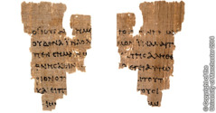The Rylands fragment, front and back