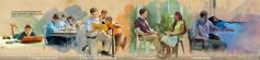 Egy fiatal testvér erősíti a kapcsolatát Jehovával: 1. az iskolás évei alatt; 2. a teljes idejű szolgálat során; 3. a házas évei alatt; 4. a próbák során