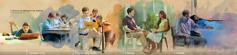Mlad moški krepi svoj odnos z Jehovom: 1. v šolskih letih; 2. v polnočasni službi; 3. v zakonu; 4. v težavah.