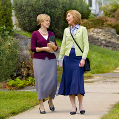 Two sisters working in the house-to-house ministry
