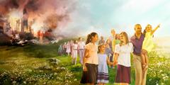 Људи су преживели Армагедон и за собом остављају рушевине и дим