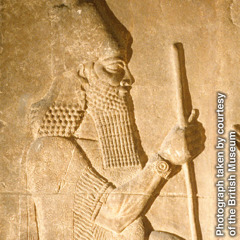 Stone relief of Assyrian King Sargon II