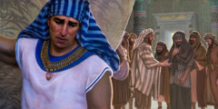 요셉의 형들이 오래전 자기들이 저지른 잔인한 행동에 대해 깊이 뉘우치는 것을 요셉이 듣는 장면
