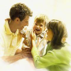 عائلة سعيدة تتحد بعد القيامة خلال الالف سنة