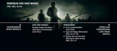 Garis masa serangan Gog dari Magog, bermula dengan kesengsaraan besar