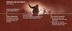 Garis masa serangan Gog dan Magog selepas pemerintahan 1,000 tahun Kristus