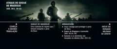 Linha do tempo sobre o ataque de Gogue de Magogue, começando com o início da grande tribulação