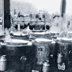 Cooking kettles in Frankfurt, Germany