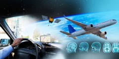 Advancements in science that include automobiles, GPS, satellites, airplanes, brain scans