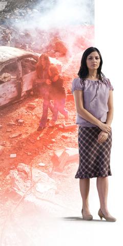 Бомбанын жарылышынан коркуп калган Алона