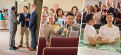 ある若い男性が集会に出席し,集会で注解し,バプテスマを受ける