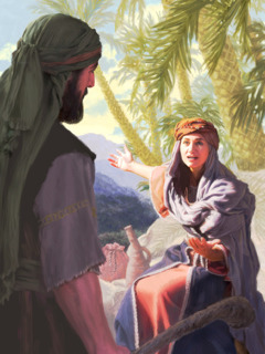 The prophetess Deborah speaks to Barak