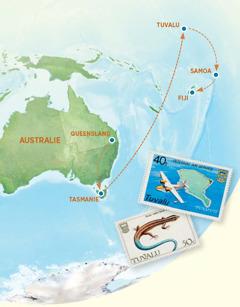 Yẹdide otò tọn he ji Australie, Tasmanie, Tuvalu, Samoa, po Fiji po yin didohia te