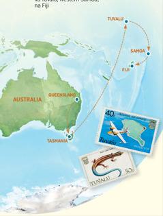 Mapu gha Australia, Tasmania, Tuvalu, Samoa, na Fiji