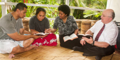 Geoffrey and Loraini Jackson witnessing in Fiji
