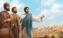 Jesus sends two disciples out to preach