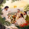 オリーブ山の上でイエスが使徒たちの幾人かに話をしている