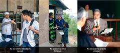 1. Moški zavrne cigareto; 2. Krščanska sestra oznanjuje v tuji deželi; 3. Krščanski brat na sodišču
