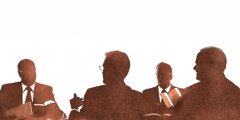 Silhouette of a Governing Body committee meeting