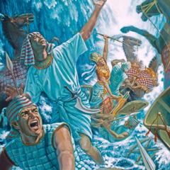 Maji ya Bahari Nyekundu yanaanza kufunika Farao na jeshi lake
