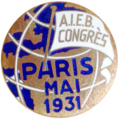 Advertisement for the May 1931 International Convention in Paris, France