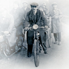 Colporteurs ride bicycles and motorcycles