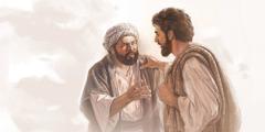 Апостол Петр разговаривает с Иисусом