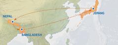 Dari Jepang ke Nepal, Bangladesh, lalu kembali ke Jepang