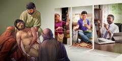 Einige Christen denken über das Lösegeld Christi nach und wenden die Lektionen daraus auf die Wahl ihrer Kleidung, Musik, Filme an und auf das Material, das sich auf ihren elektronischen Geräten befindet