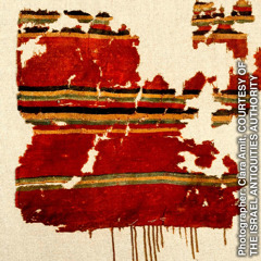 Dyed wool found in a cave near the Dead Sea, dated from before 135 C.E.