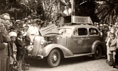 Een geluidswagen in Brazilië