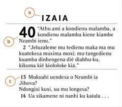 Izuelu ia Bibidia phala kulondekesa kiebhi muthu kia tena kuijiia a) o divulu dia Bibidia, b) o kibatulu ni c) velusu